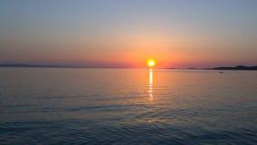 希腊日落 库存图片
