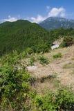 希腊最高的奥林匹斯山峰顶 免版税库存照片