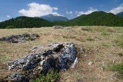希腊最高的奥林匹斯山峰顶 库存图片
