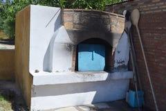 希腊村庄烤箱 免版税库存图片