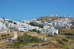 希腊村庄, amorgos 免版税库存照片
