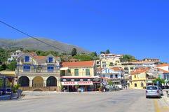希腊村庄建筑学 库存照片