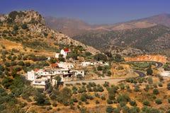 希腊村庄 免版税库存图片