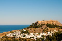 希腊村庄 库存照片