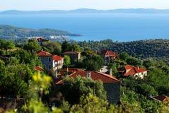 希腊村庄 图库摄影