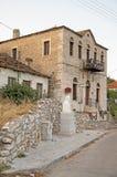 希腊村庄 免版税图库摄影