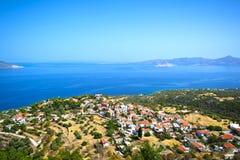 希腊村庄 免版税库存照片