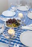 希腊桌 库存照片