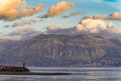 希腊横向 免版税库存图片