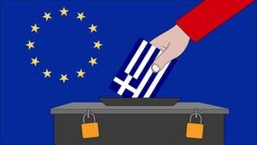 希腊欧洲选举的投票箱 皇族释放例证