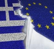 希腊欧洲失败 库存照片