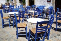 希腊正方形 免版税库存照片