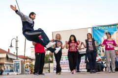 希腊民间传说舞蹈家 库存照片