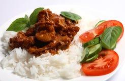 希腊水平的羊羔炖煮的食物样式 库存图片