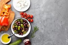 希腊沙拉烹调 免版税库存图片