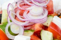 希腊沙拉用红洋葱 库存图片
