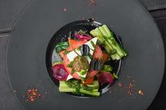 希腊沙拉用蕃茄和黄瓜 库存图片