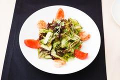 希腊沙拉虾 免版税图库摄影