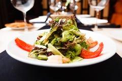 希腊沙拉虾 免版税库存图片