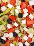 希腊沙拉顶视图  免版税库存照片