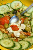 希腊沙拉 免版税图库摄影