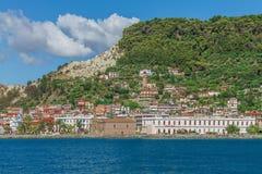 希腊海岛建筑学  库存照片