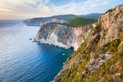 希腊海岛扎金索斯州在爱奥尼亚海 免版税库存照片