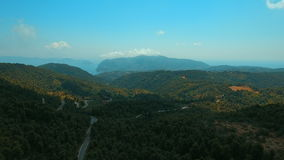 希腊海岛斯科派洛斯岛森林中心山 股票录像