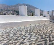 希腊海岛横向 库存图片