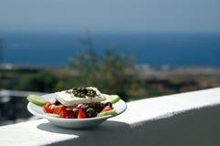 希腊海岛沙拉场面 免版税库存照片