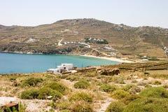 希腊海岛海岸 免版税库存图片