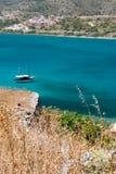 希腊海岛海运视图 免版税库存照片