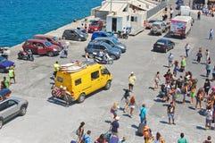 希腊海岛的Transpotation 库存图片