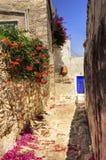 希腊海岛胡同 免版税图库摄影