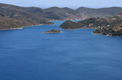 希腊海岛ithaki 库存图片