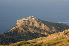 希腊海岛kea修道院 免版税图库摄影