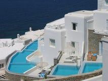 希腊海岛mykonos 免版税图库摄影