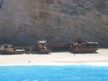 希腊海岛navagio zante 库存照片