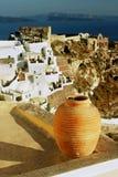 希腊海岛oia santorini 库存照片