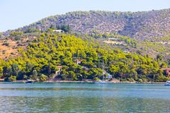 希腊海岛poros 免版税图库摄影