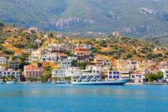希腊海岛poros 免版税库存照片