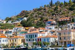 希腊海岛poros 免版税库存图片
