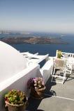 希腊海岛santorini视图火山 库存图片