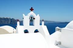 希腊海岛santorini 库存图片