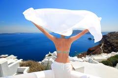 希腊海岛santorini 库存照片