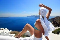 希腊海岛santorini 免版税库存图片