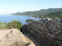 希腊海滩和海岸 免版税库存照片