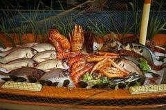 希腊海鲜 库存照片