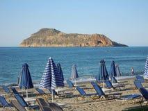 希腊海滩 库存图片