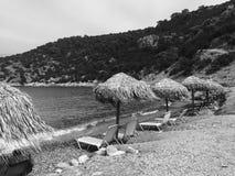 希腊海滩 免版税库存照片